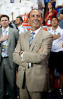 Don Garber.  The MLS All-Stars defeated Chelsea, 3-2.