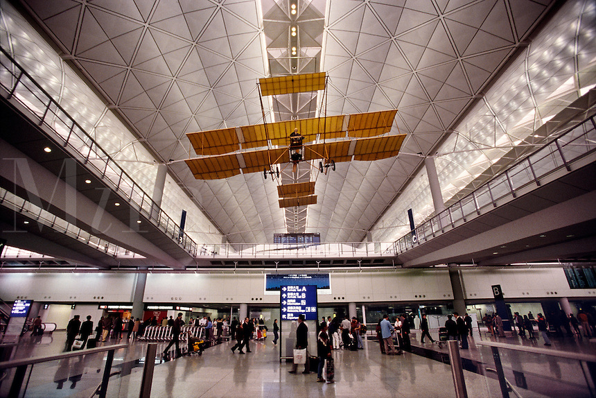 New Airport Terminal interior Hong Kong