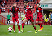 Gwion Edwards of Crawley Town during the Sky Bet League 2 match between Crawley Town and Wycombe Wanderers at Checkatrade.com Stadium, Crawley, England on 29 August 2015. Photo by Liam McAvoy.