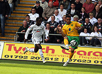 Pictured: Nathan Dyer of Swansea City in action <br /> Re: Coca Cola Championship, Swansea City FC v Norwich City FC at the Liberty Stadium Swansea, south Wales. Saturday 11 April 2009.<br /> Picture by D Legakis Photography / Athena Picture Agency, Swansea 07815441513