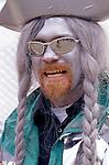 Man dressed as a pirate Fremont parade Seattle Washington State USA