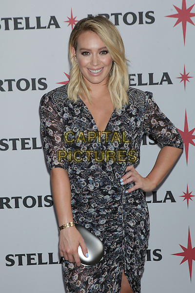 NEW YORK, NY - JUNE 23: Actress Hilary Duff joins Stella Artois to help kick-off a summer of hosting memorable moments in New York City on June 23, 2016.   <br /> CAP/MPI99<br /> &copy;MPI99/Capital Pictures