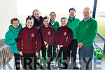 Moyderwell NS visited the Tralee Golf Club on Monday morning.<br /> Front l to r: Moyderwell NS students, Lisa O'Shea, Jake O'Donnell and Aoife Hartnett.<br /> Back l to r: Ita Roland (Ladies President 2020), Moira Quinlan (Principal), Vera Tierney (Lady Captain 2020), Sandra O'Sullivan (Girls Junior Liaison Officer) and Richard Barrett (Mens Captain 2020).