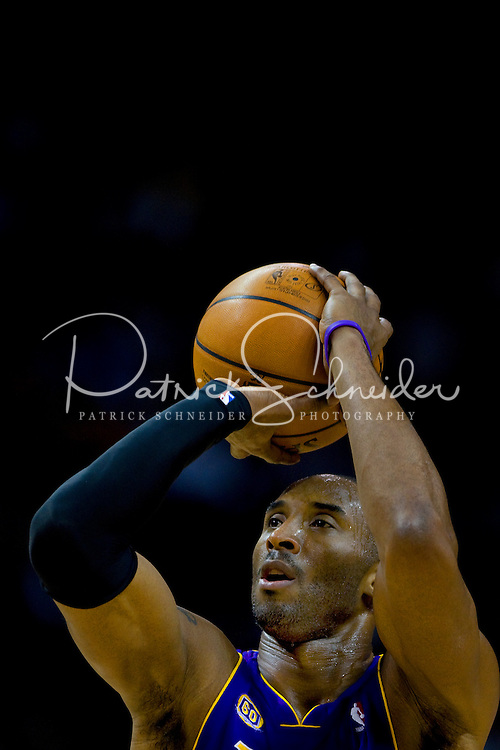 Los Angeles Lakers Kobe Bryant during an NBA basketball game Time Warner Cable Arena in Charlotte, NC.