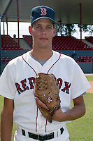 Boston Red Sox Aaron Sele during spring training circa 1991 at Chain of Lakes Park in Winter Haven, Florida.  (MJA/Four Seam Images)
