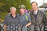 Taoiseach Enda Kenny took part in the Ring of Kerry Cycle at the weekend pictured here at a food & water stop in Colaiste na Sceilge, Cahersiveen with l-r; PJ O'Donovan and Tony Donnelly.