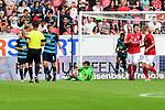 Herthas Torwart Rune Jarstein sicher am Ball<br />   beim Spiel in der Fussball Bundesliga, 1. FSV Mainz 05 - Hertha BSC.<br /> <br /> Foto &copy; PIX-Sportfotos *** Foto ist honorarpflichtig! *** Auf Anfrage in hoeherer Qualitaet/Aufloesung. Belegexemplar erbeten. Veroeffentlichung ausschliesslich fuer journalistisch-publizistische Zwecke. For editorial use only.