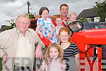 VINTAGE: Looking over one of the vintage tractors on show at the Ardfert Summer Festival on Sunday were PJ Riordan (owner) Tralee, Aoife, Chloe, Jack, Aisling, Killian and Thomas Leen (Lixnaw)..