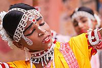 acrobatic gotipua dancer. Gotipuas are young boys of tender age. They dress up as girls using vaishnav devotional love songs of Radhakrishna