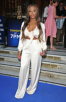 Alexandra Burke at the &quot;The King and I&quot; play press night, The London Palladium, Argyll Street, London, England, UK, on Tuesday 03 July 2018.<br /> CAP/CAN<br /> &copy;CAN/Capital Pictures