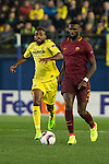 Jaume Vicent Costa Jordá of Villarreal CF fights for the ball with Antonio Rüdiger of AS Roma during the match Villarreal CF vs AS Roma during their UEFA Europa League 2016-17 Round of 32 match at the Estadio de la Cerámica on 16 February 2017 in Villarreal, Spain. Photo by Maria Jose Segovia Carmona / Power Sport Images