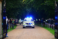 Picture by Simon Wilkinson/SWpix.com 05/09/2017 - Cycling OVO Energy Tour of Britain - Stage 3 Normanby Hall to Scunthorpe - the start at Normanby Hall, Lincolnshire<br /> Police BMW