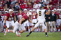 Stanford, CA -- November 23, 2013:  Stanford's Josh Mauro during a game against Cal at Stanford Stadium. Stanford defeated Cal 63-13.