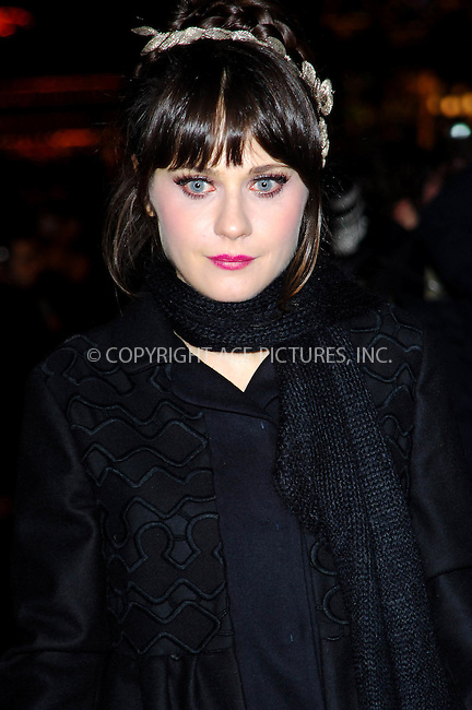 "Zooey Deschanel at the UK Premiere of ""Yes Man"" held at Vue Leicester Square in London - 09 December 2008..FAMOUS PICTURES AND FEATURES AGENCY 13 HARWOOD ROAD LONDON SW6 4QP UNITED KINGDOM tel +44 (0) 20 7731 9333 fax +44 (0) 20 7731 9330 e-mail info@famous.uk.com www.famous.uk.com.FAM24864"