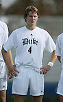 Duke's Graham Dugoni on Sunday, November 19th, 2006 at Koskinen Stadium in Durham, North Carolina. The Duke Blue Devils defeated the Lehigh University Mountain Hawks 3-0 in an NCAA Division I Men's Soccer Championship third round game.