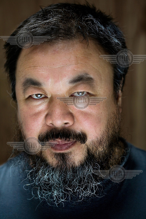 Chinese artist Ai Wei Wei at his studio in Beijing.