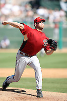 Aaron Heilman. Arizona Diamondbacks spring training game vs. Chicago Cubs at Hohokam Stadium, Mesa, AZ - 03/05/2010.Photo by:  Bill Mitchell/Four Seam Images.