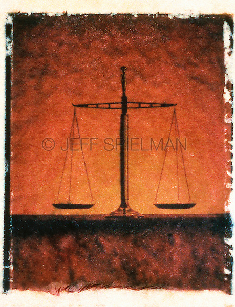 Scales of Justice - Still Life/Polaroid Transfer<br />