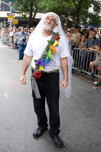 The 2011 NYC Pride March on 26 June 2011 in New York, New York, two days after the New York State Senate voted 33-29 to legalize gay marriage.