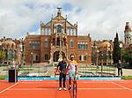 20.04.2015 Barcelona. Presentacion torneo Open Banc Sabadell Trofeo Cnde Gogo con Rafa Nadal y Nishikori en el recinto modernista de Sant Pau