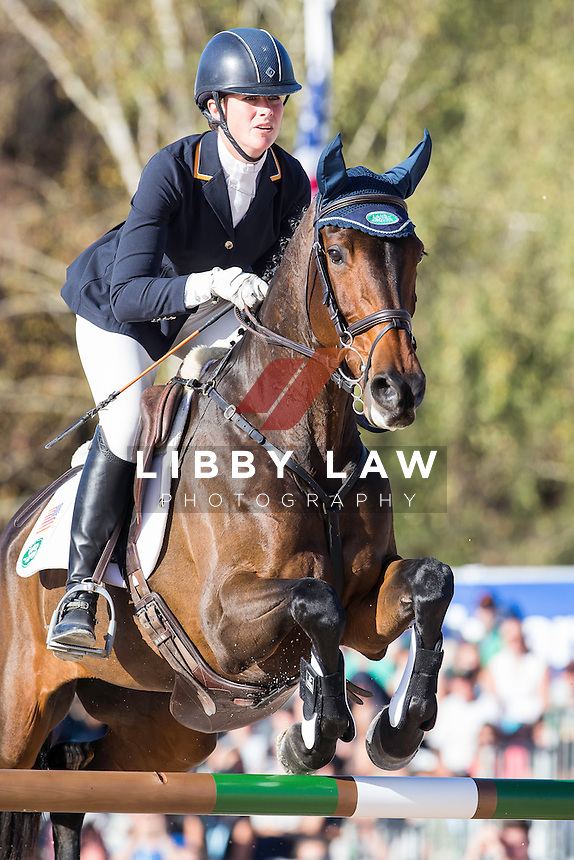 USA-Lauren Kieffer (VERONICA) FINAL-9TH: CCI4* SHOWJUMPING: 2014 FRA-Les Etoiles de Pau (Sunday 26 October) CREDIT: Libby Law COPYRIGHT: LIBBY LAW PHOTOGRAPHY - NZL