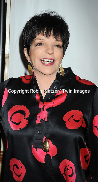 Liza Minnelli attending the Drama League Awards Ceremony and Luncheon at The Marriott Marquis Hotel in New York on May 20, 2011.