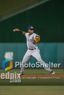 22 July 2016: San Diego Padres infielder Alexei Ramirez in action against the Washington Nationals at Nationals Park in Washington, DC. The Padres defeated the Nationals 5-3 to take the first game of their 3-game, weekend series. Mandatory Credit: Ed Wolfstein Photo *** RAW (NEF) Image File Available ***