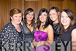 Enjoying the Glin Rovers social at Kirby's Lanterns Hotel Tarbert on Friday night were Marie Lyons, Karen Costello, Caroline Kiely, Edel Sheehan and Margaret Moloney-Farrell.   Copyright Kerry's Eye 2008