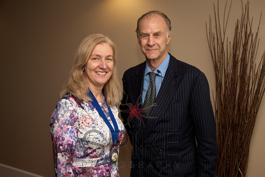Sir Ranulph Fiennes with Nottingham City Business Club President Dianne Allen