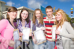 Pictured after getting their Junior Cert results on Wednesday at Gaelcholaiste Chiarrai were Sadhbh Coakley, Katie Cronin, Ro?si?n Healy, Nicholas Fitzgerald and Danielle O'Sullivan.