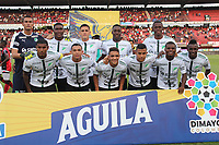 CUCUTA - COLOMBIA, 22-09-2019: Jugadores del Cali posan para una foto previo al encuentro por la fecha 12 de la Liga Águila II 2019 entre Cúcuta Deportivo y Deportivo Cali jugado en el estadio General Santander de la ciudad de Cúcuta. / Players of Cali pose to a photo prior the match between Cucuta Deportivo and Deportivo Cali for the date 12 of the Liga Aguila II 2019 played at the General Santander stadium in Cucuta city. Photo: VizzorImage / Manuel Hernandez / Cont