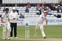 Daniel Lawrence in bowling action for Essex during Essex CCC vs Middlesex CCC, Specsavers County Championship Division 1 Cricket at The Cloudfm County Ground on 29th June 2017