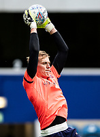 Blackburn Rovers' Christian Walton warming up before the match <br /> <br /> Photographer Andrew Kearns/CameraSport<br /> <br /> The EFL Sky Bet Championship - Queens Park Rangers v Blackburn Rovers - Saturday 5th October 2019 - Loftus Road - London<br /> <br /> World Copyright © 2019 CameraSport. All rights reserved. 43 Linden Ave. Countesthorpe. Leicester. England. LE8 5PG - Tel: +44 (0) 116 277 4147 - admin@camerasport.com - www.camerasport.com