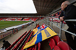 Doncaster Rovers Belles 1 Chelsea Ladies 4, 20/03/2016. Keepmoat Stadium, Womens FA Cup. Doncaster fans with flag. Photo by Paul Thompson.