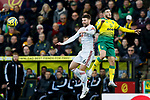 Oliver Norwood of Sheffield United heads the ball during the Premier League match at Carrow Road, Norwich. Picture date: 8th December 2019. Picture credit should read: James Wilson/Sportimage