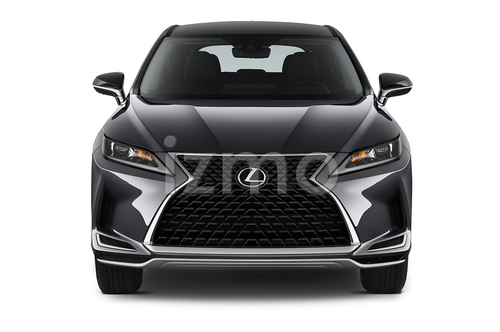 Car photography straight front view of a 2020 Lexus RX 350 5 Door SUV