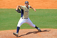 18 March 2012:  FIU pitcher Michael Gomez (9) pitches in relief as the Florida Atlantic University Owls defeated the FIU Golden Panthers, 9-3, at University Park in Miami, Florida.