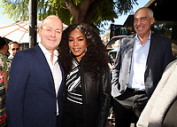 HOLLYWOOD, CALIFORNIA - DECEMBER 4: CEO, FX Networks Group John Landgraf, Angela Bassett and Chairman and CEO Fox Television Group Gary Newman attend a ceremony honoring Ryan Murphy with a star on The Hollywood Walk of Fame on December 4, 2018 in Hollywood, California. (Photo by Frank Micelotta/Fox/PictureGroup)