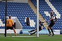 David Gray of Stevenage shoots at goal. Colchester United v Stevenage - npower League 1 - Weston Homes Community Stadium, Colchester - 13th October, 2012. © Kevin Coleman 2012
