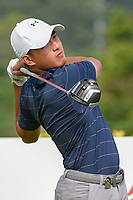 Lloyd Jefferson GO (PHI) watches his tee shot on 3 during Rd 3 of the Asia-Pacific Amateur Championship, Sentosa Golf Club, Singapore. 10/6/2018.<br /> Picture: Golffile | Ken Murray<br /> <br /> <br /> All photo usage must carry mandatory copyright credit (© Golffile | Ken Murray)