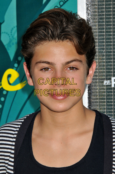 JAKE T. AUSTIN .Teen Choice Awards 2009 - Arrivals held at the Gibson Amphitheatre, Universal City, CA, USA..August 9th, 2009.headshot portrait black white striped stripes .CAP/ADM/BP.©Byron Purvis/AdMedia/Capital Pictures.