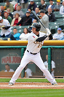 Brennan Boesch (23) of the Salt Lake Bees at bat against the Memphis Redbirds at Smith's Ballpark on June 18, 2014 in Salt Lake City, Utah.  (Stephen Smith/Four Seam Images)