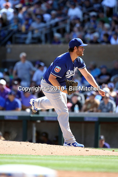 Clayton Kershaw - Los Angeles Dodgers 2016 spring training (Bill Mitchell)
