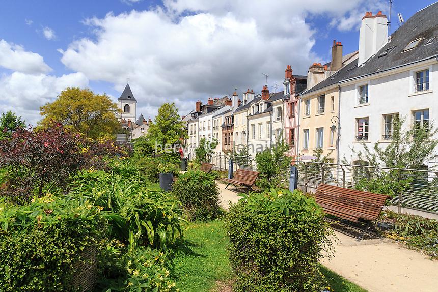 France, Loiret (45), Orléans, jardin public rue de la Charpenterie // France, Loiret, Orleans, public garden, Charpenterie street