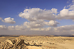 Isarael, Negev, Avdat, built in the 1st century by the Nabateans. A world Heritage Site as part of the Spice Route, a view from the City Fortress