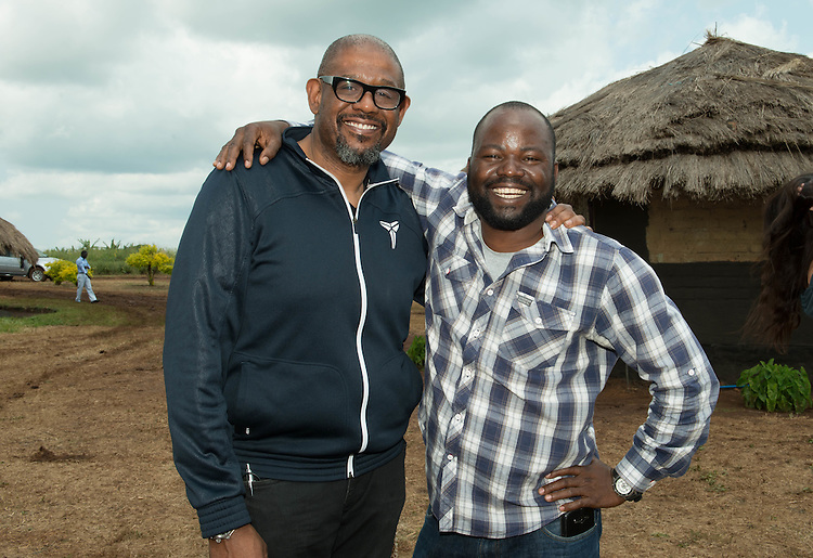 Forest Whitaker and Orach Godfrey Otabi at Hope North, Uganda.