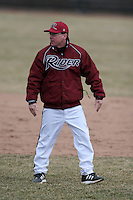 March 22nd 2009:  Head Coach Barry Davis of the Rider University Broncs argues a call during a game at Sal Maglie Stadium in Niagara Falls, NY.  Photo by:  Mike Janes/Four Seam Images