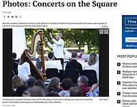 The Wisconsin Chamber Orchestra kicks off its 35th season of Concerts on the Square, conducted by Andrew Sewell, at the State Capitol Square on Wednesday, 6/27/18, in Madison | Photo front page Wisconsin State Journal 6/28/18 and online gallery at https://host.madison.com/wsj/news/local/photos-concerts-on-the-square/collection_94eae3ca-e58b-5c75-91e6-734c70308db2.html