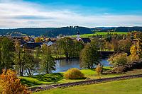 Deutschland, Bayern, Oberpfalz, Naturpark Oberer Bayerischer Wald, Koetztinger Land, Miltach am Fluss Regen | Germany, Bavaria, Upper Palatinate, Nature Park Upper Bavarian Forest, Miltach upon river Regen