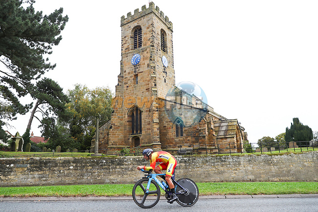 Luis Guillermo Mas Bonet of Spain in action during the Men Elite Individual Time Trial of the UCI World Championships 2019 running 54km from Northallerton to Harrogate, England. 25th September 2019.<br /> Picture: Alex Whitehead/SWpix.com | Cyclefile<br /> <br /> All photos usage must carry mandatory copyright credit (© Cyclefile | Alex Whitehead/SWpix.com)
